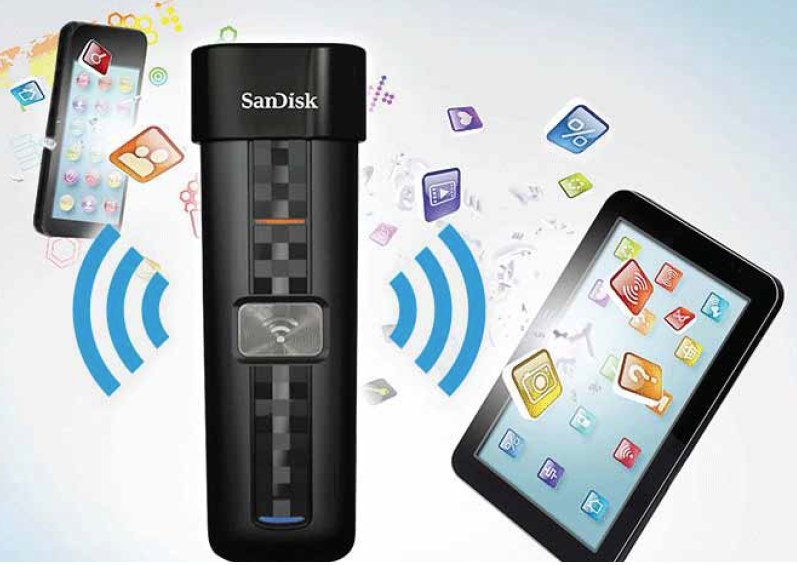 sandisk wireless flash how to open